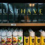 Liquids in einem Regal - Pustekuchen Dampfer Shop Simmern
